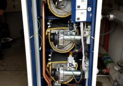 Floor Standing MHG Procon Boiler that has been installed in place of 2 x MHS Strata 2/120 Boilers